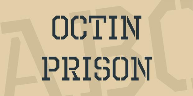 Free Octin Prison Sport Font
