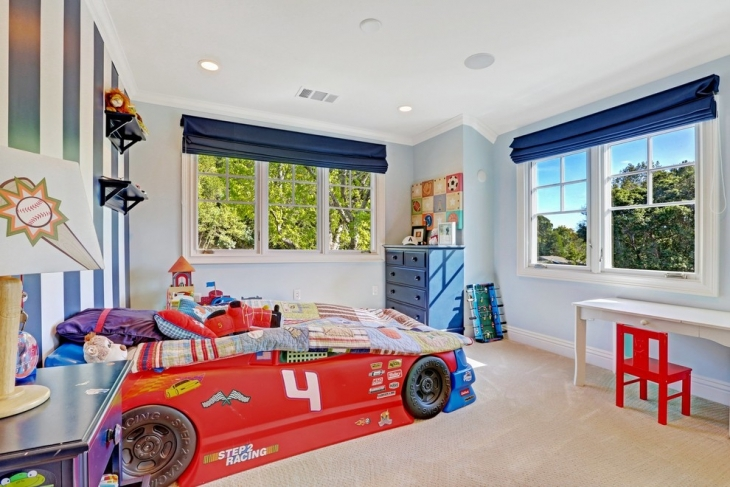 Red Car Shaped Bed