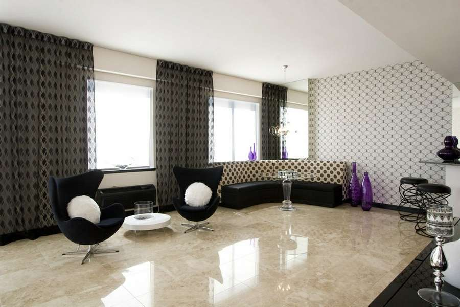 Italian Living Room Flooring Design