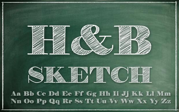 20  sketch fonts - ttf  otf  download