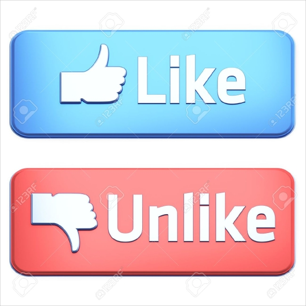like and unlike render buttons