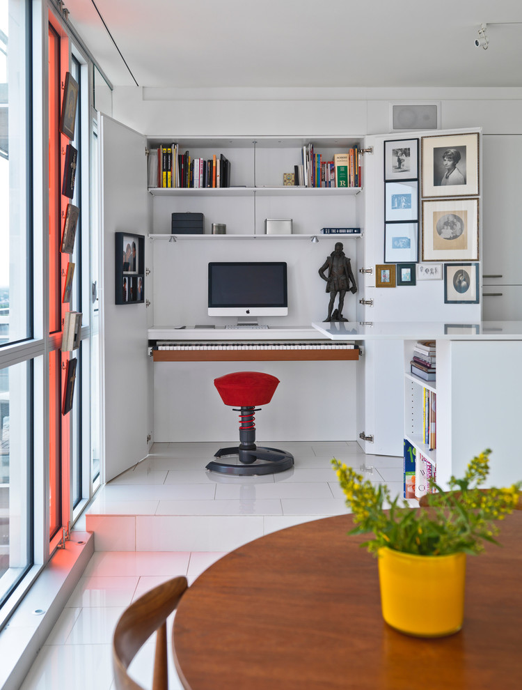 small Home Office Design Looks Beautiful
