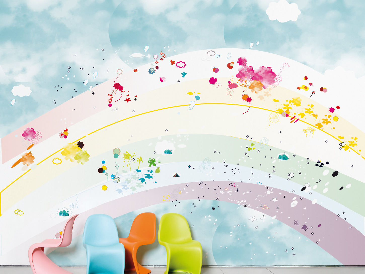 motif kid wallpaper design