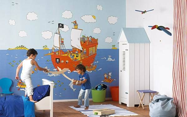 kid modern wallpaper design