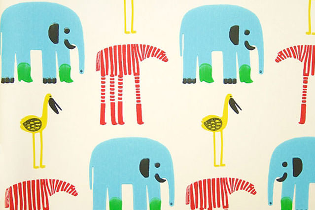marimekko kid wallpaper design
