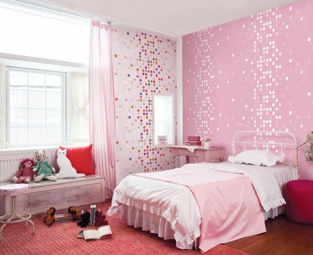 kid cute pink wallpaper design