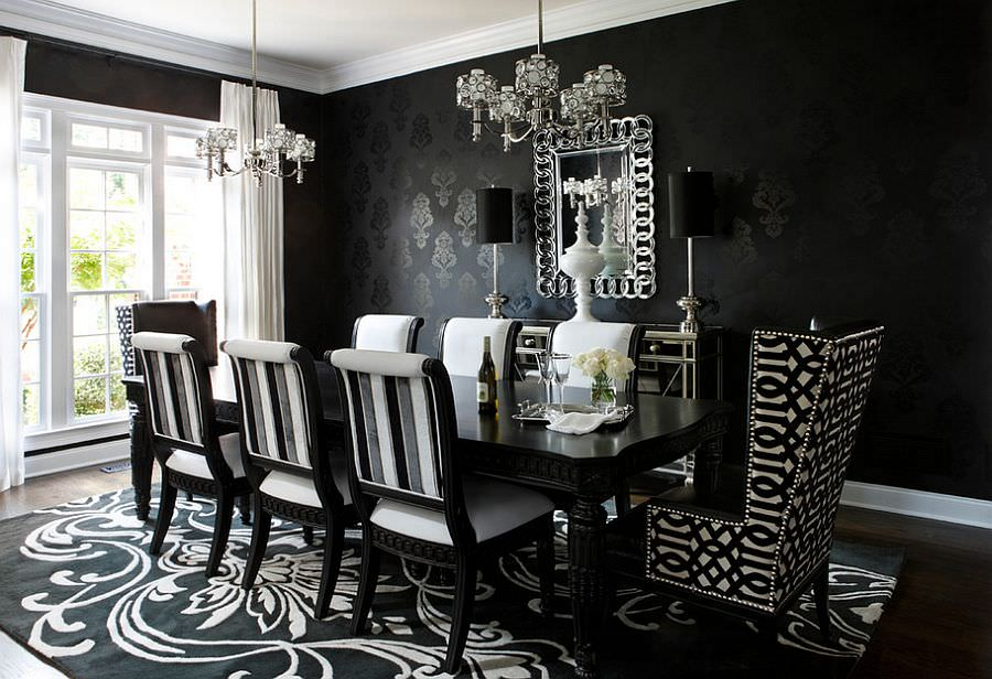 Dark Dazzling Dining Room Design