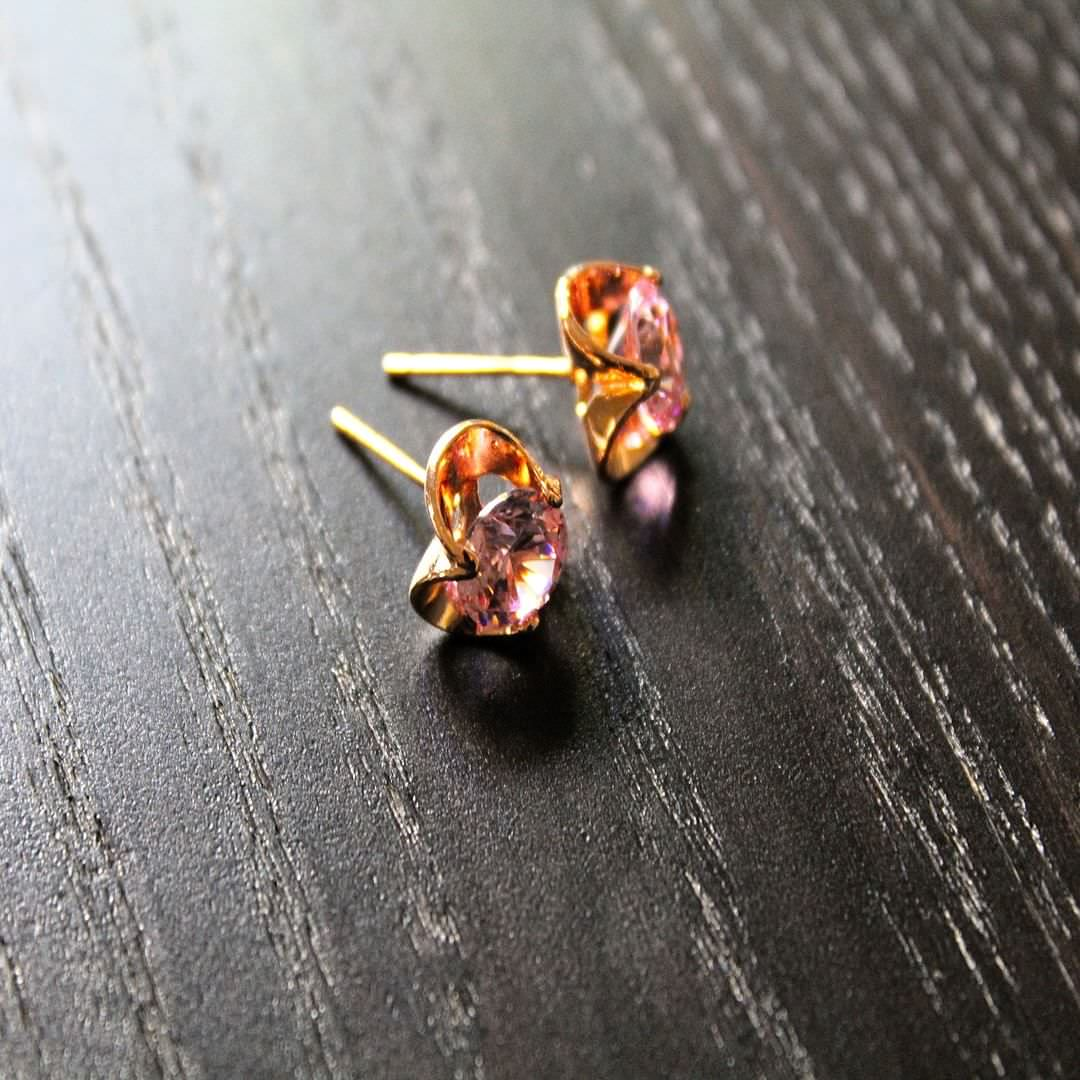 Fancy Rose Gold Studs