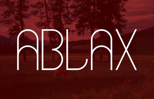 Ablax Thin Font