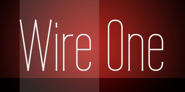 wire one font