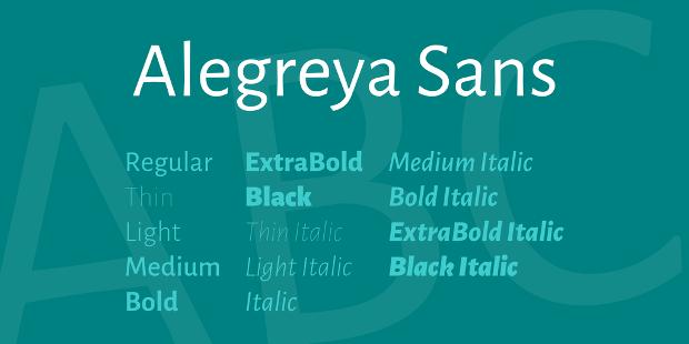 Algreya Sans Serif Font