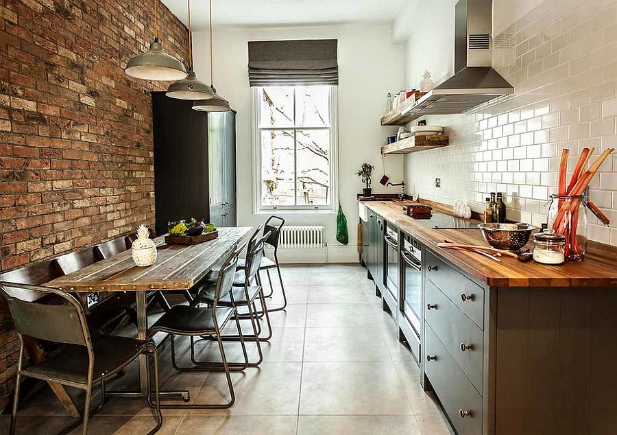 Small kitchen Chic Industrial Dining Room Design