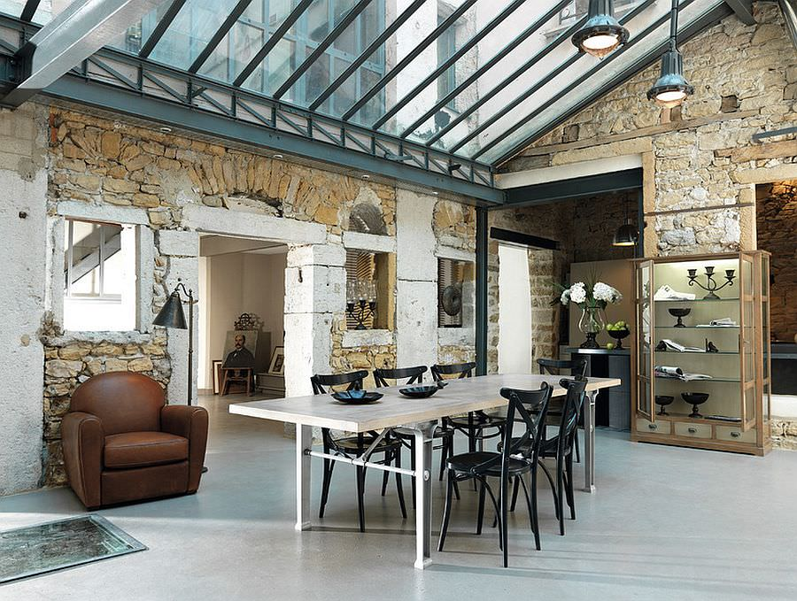 Farm House Chic Industrial Dining Room Design