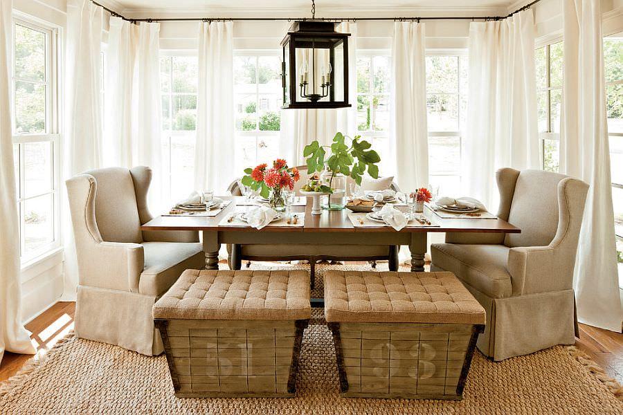 summer chic industrial dining room design