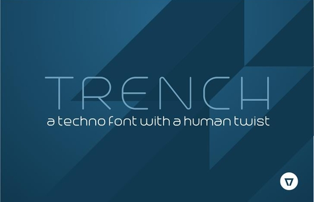 trench techno font