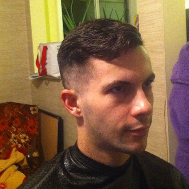 Short Tapered Hairstyle