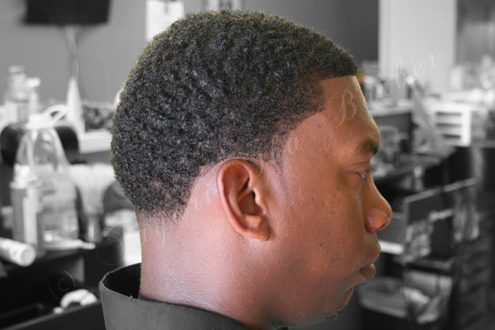 Tapered Haircut for Black Men
