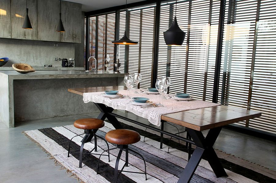 Modern Chic Industrial Dining Room Design