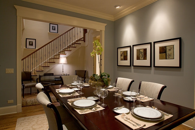 15 traditional dining room designs dining room designs for Dining room ideas grey