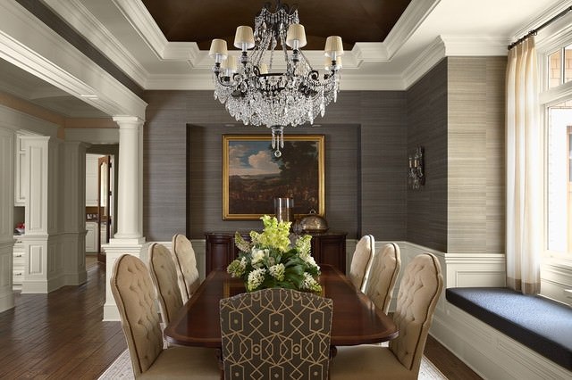 Trendy Traditional Dining Room Design