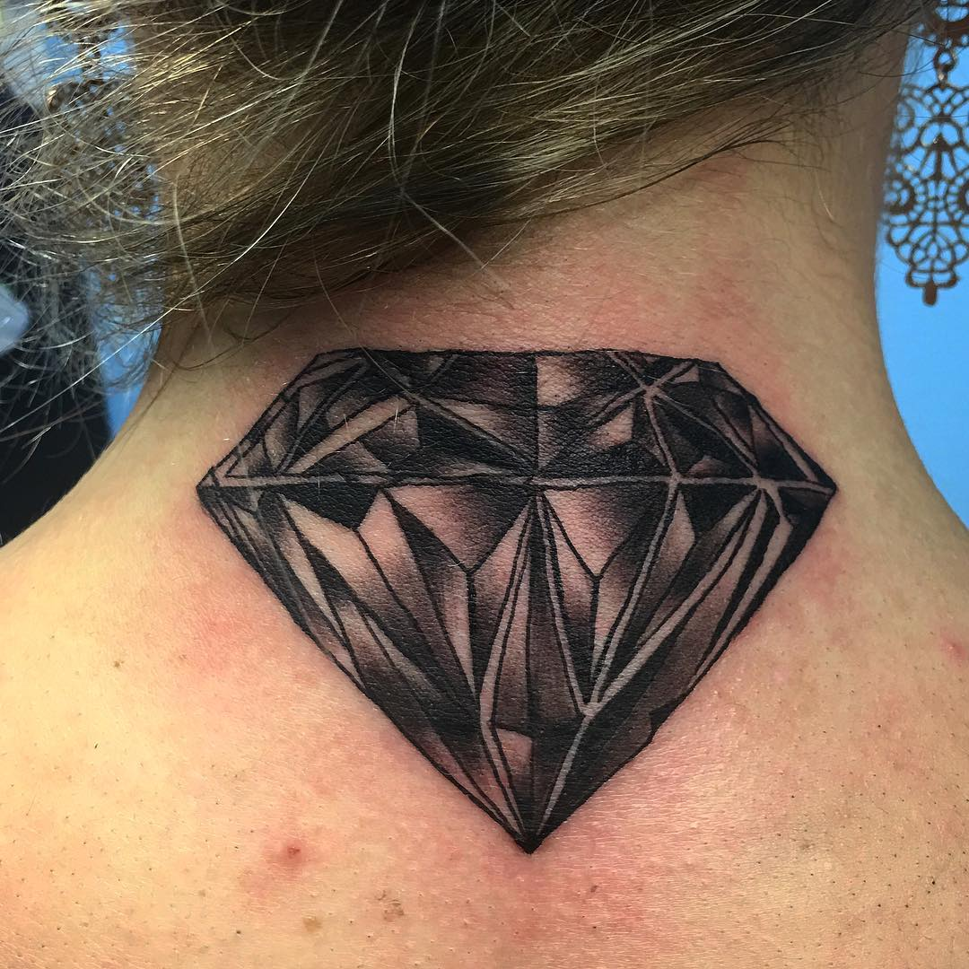 diamond neck tattoos