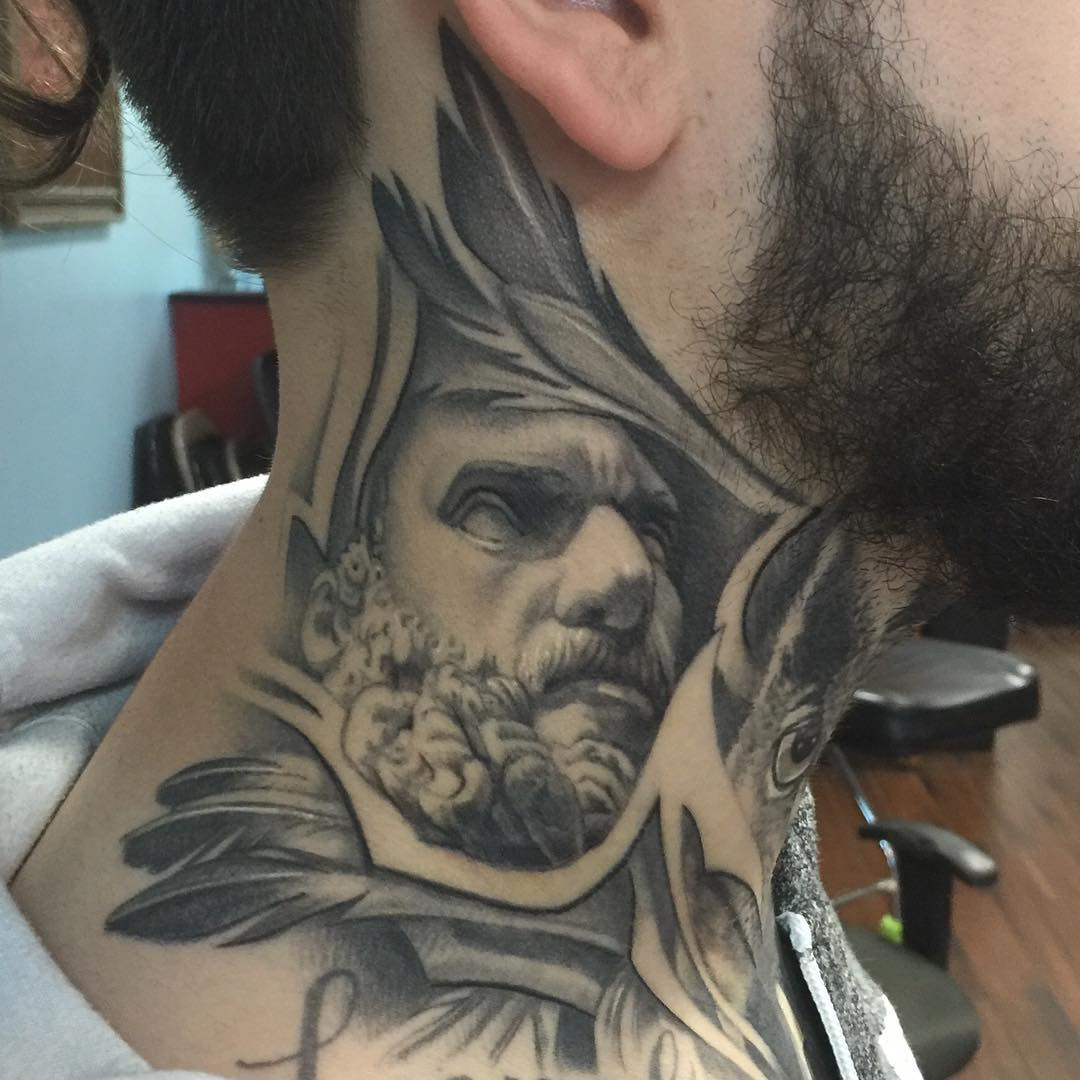 greek gods neck tattoos