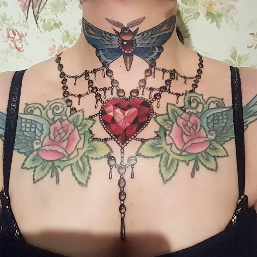 beautiful neck tattoos