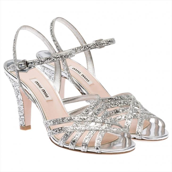 glitter silver heels