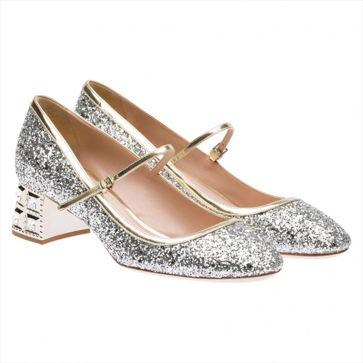 Silver Pump High Heels