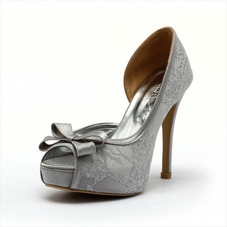 Silver Wedding High Heel