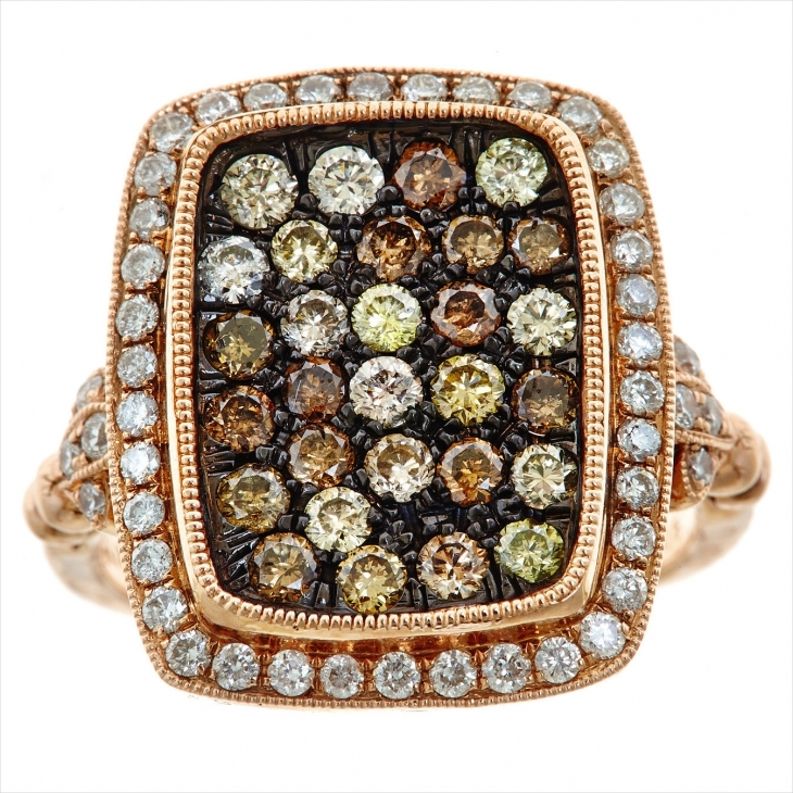multicolor diamond ring