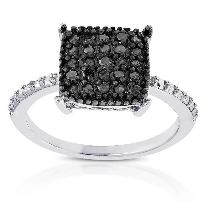 black square diamond ring
