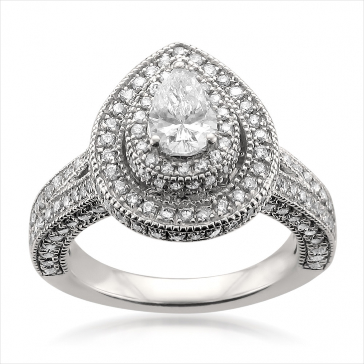 classic pear diamond ring