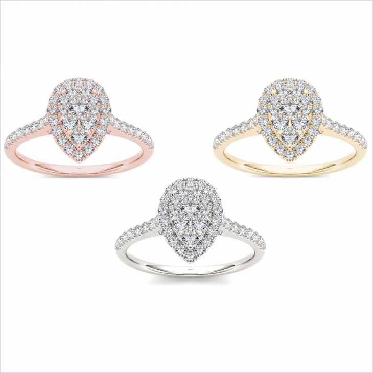 elegant pear diamond ring