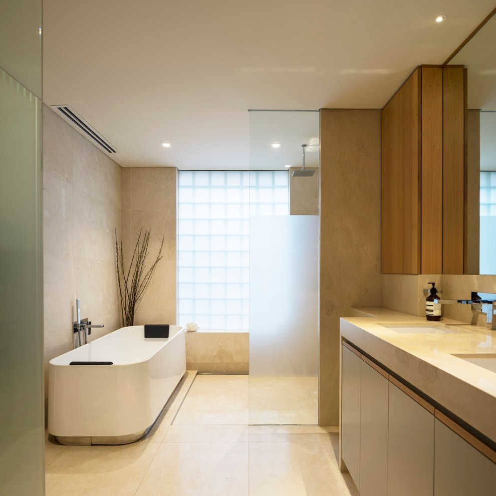 luxury minimalist bathroom design