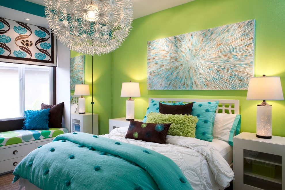 Blue Cristal Bedroom Design