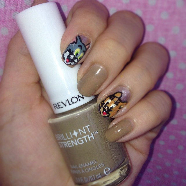Tom and jerry nail art