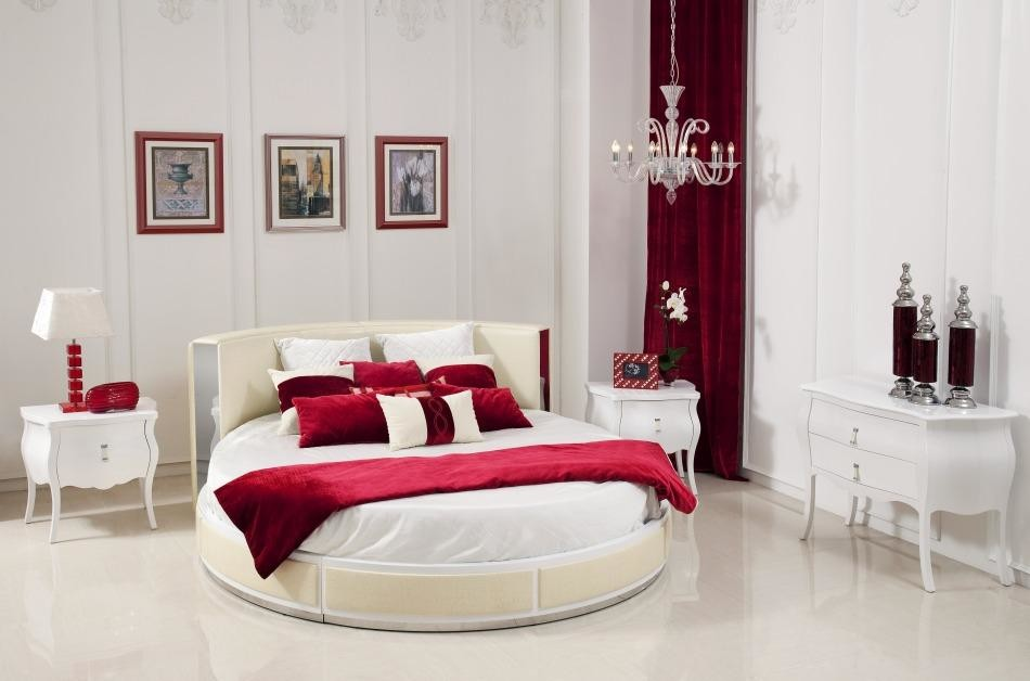 simple round bed design