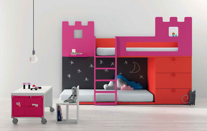 Pink Kid Study Table Design