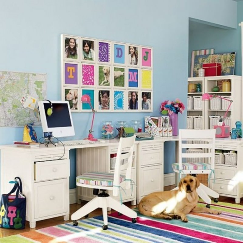 Gorgeous Kid Study Table Design