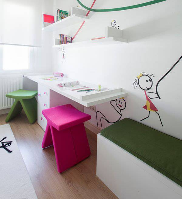Kids Study Area Ideas: 25+ Kids' Study Table Designs