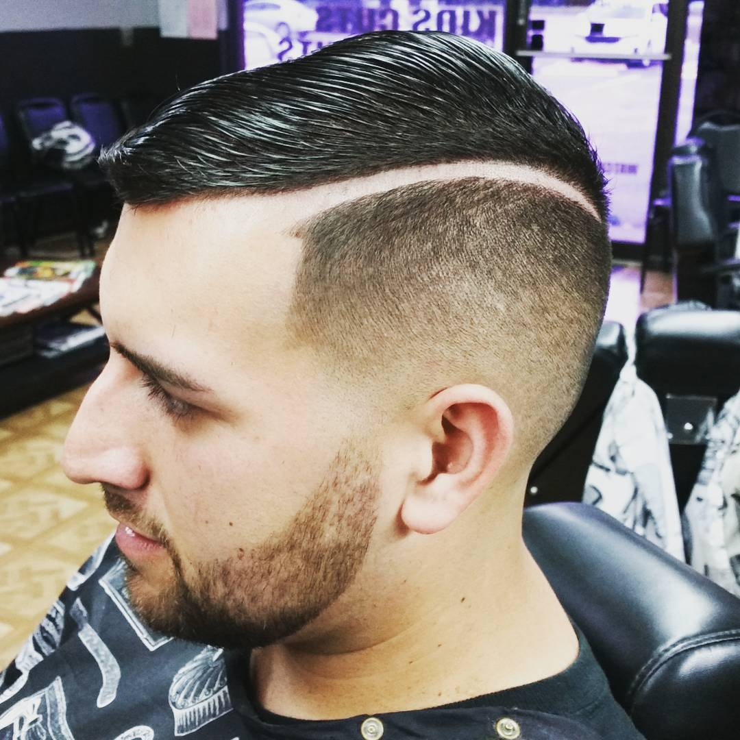 Ultra Modern Comb Over Hairstyle