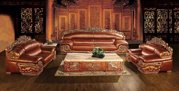 Classic Leather Sofa Design