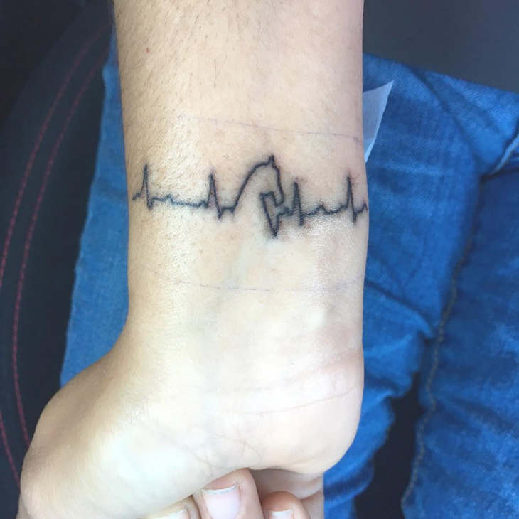simple wrist tattoo design