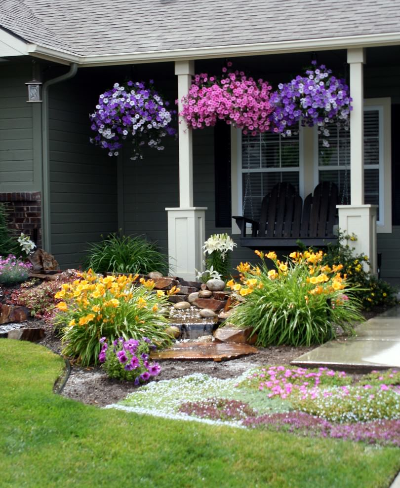 22 flower pot garden designs decorating ideas design for Flower garden landscape