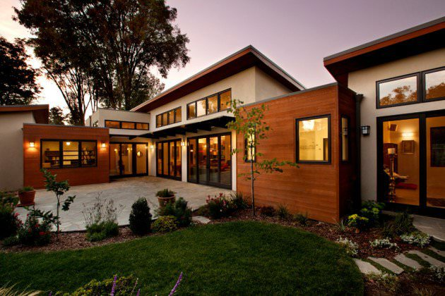 Modern Exterior Design With Wood