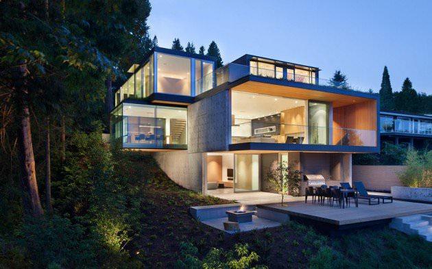 russet modern exterior design