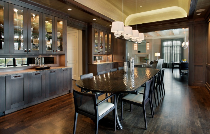 Attractive Transitional Home Dining Room Design