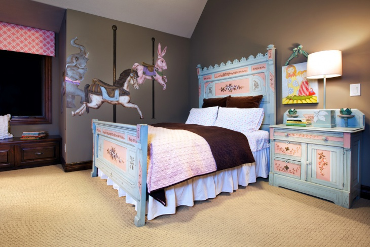 Transitional Kid's Bedroom Wall Art Idea