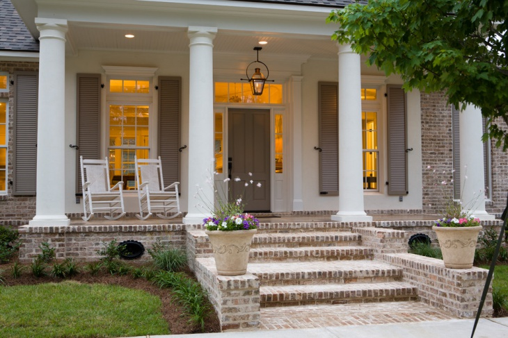 Transitional Home Porch Design